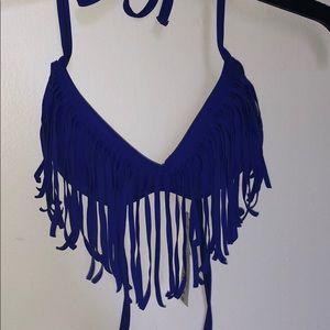 Blue push up bikini top
